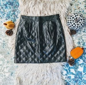 Banana Republic Faux Leather Pencil Mini Skirt